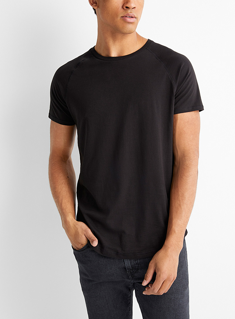 Le 31 Black Sporty T-shirt for men