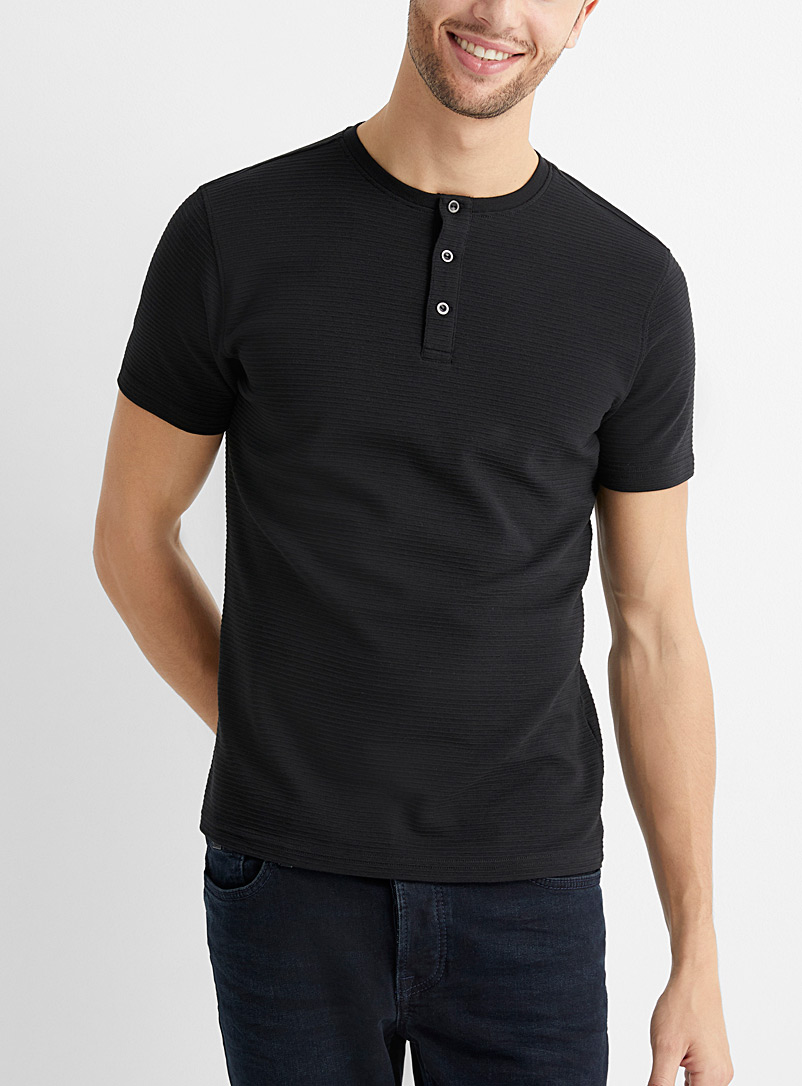 Le 31 Black Ottoman T-shirt for men