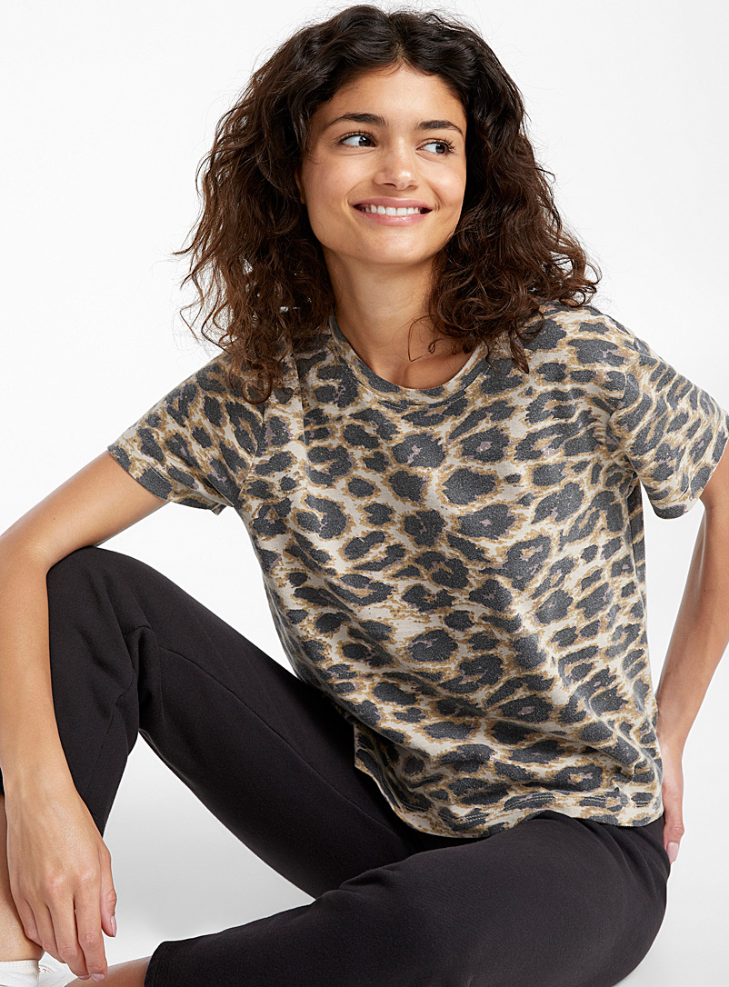 Animal print tee - Short Sleeves & ¾ Sleeves - Orange
