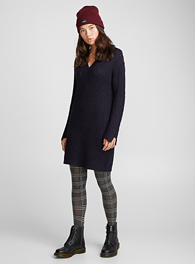 Cable-sleeve dress