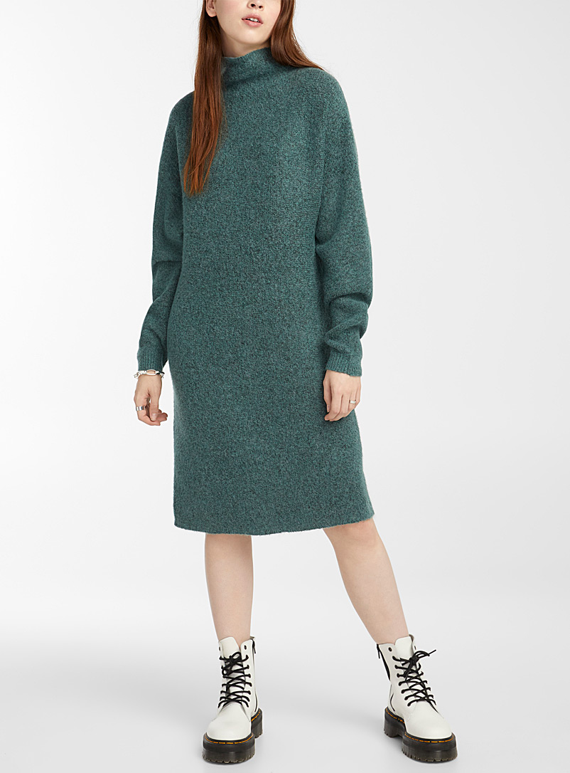 Fine-knit tunnel-collar dress