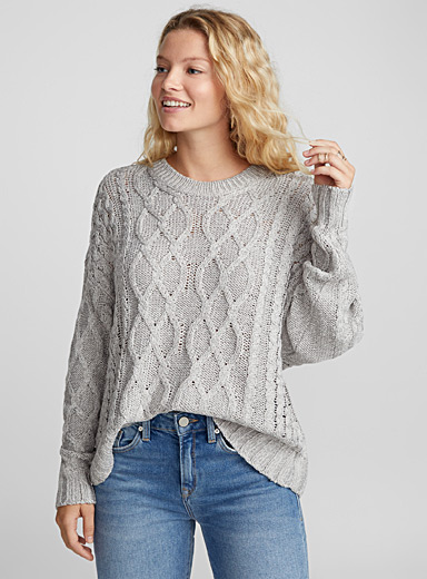 1ed02f74678 Openwork cable knit sweater