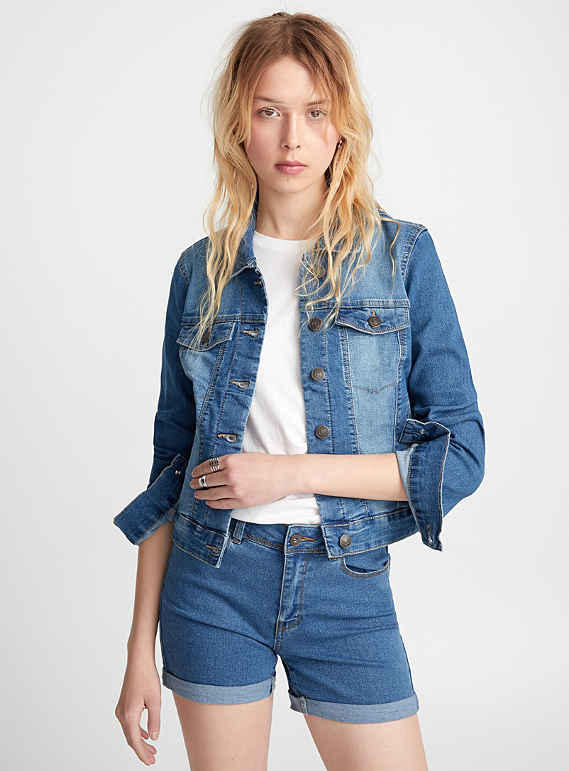 Le blouson denim authentique - Vestes de jeans - Bleu