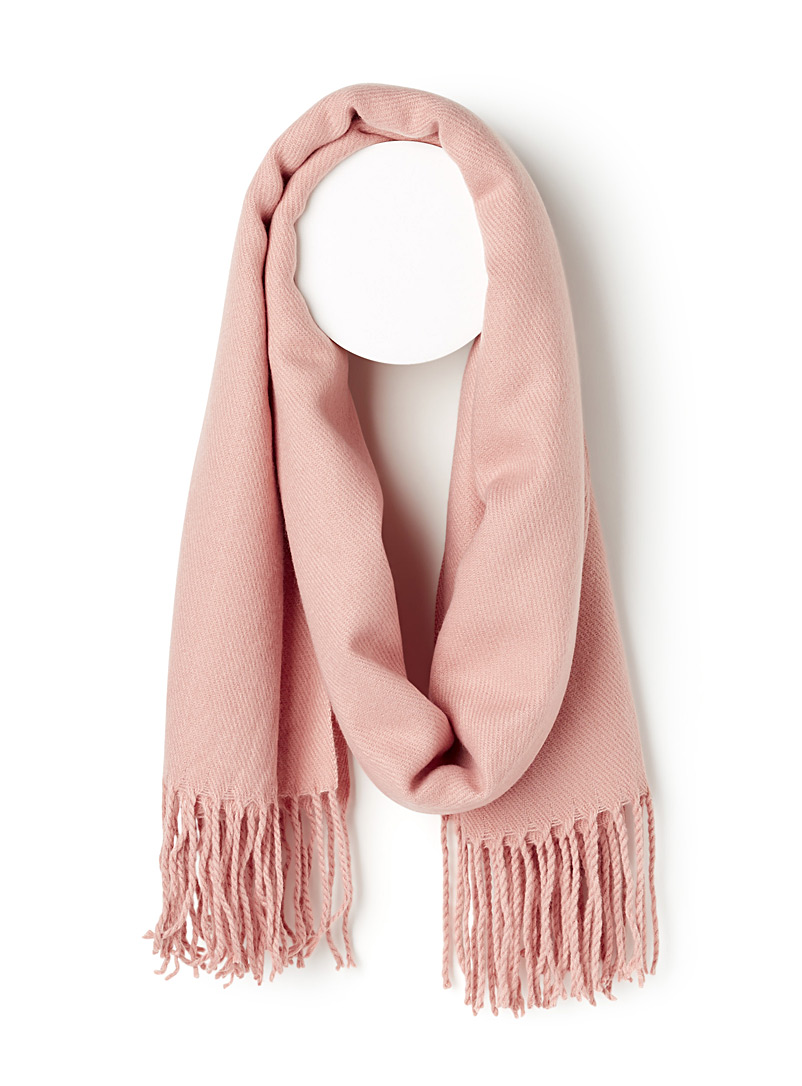 Comfy solid scarf - Winter Scarves - Pink