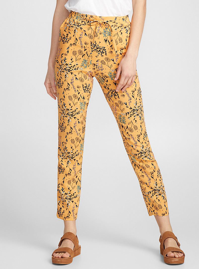 Floral sketch pant - Joggers - Patterned Yellow