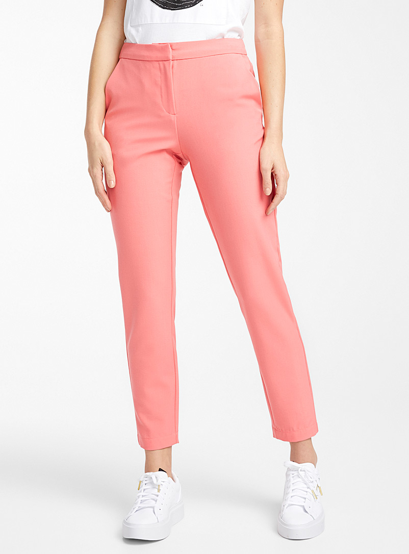 Vero Moda Pink Candy pink semi-slim pant for women