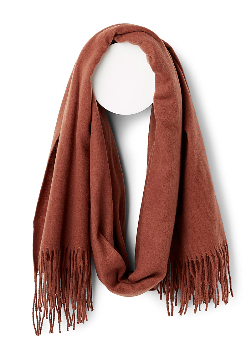 Cocoon-like monochrome scarf - Winter Scarves - Coral
