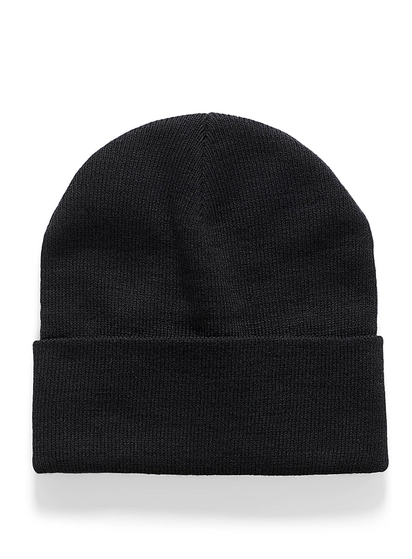 Recycled knit tuque - Tuques & Berets - Black