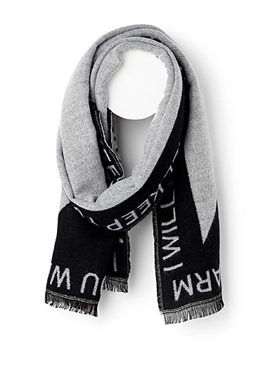 Two-tone message scarf