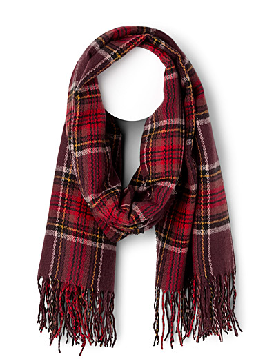 Fall check scarf