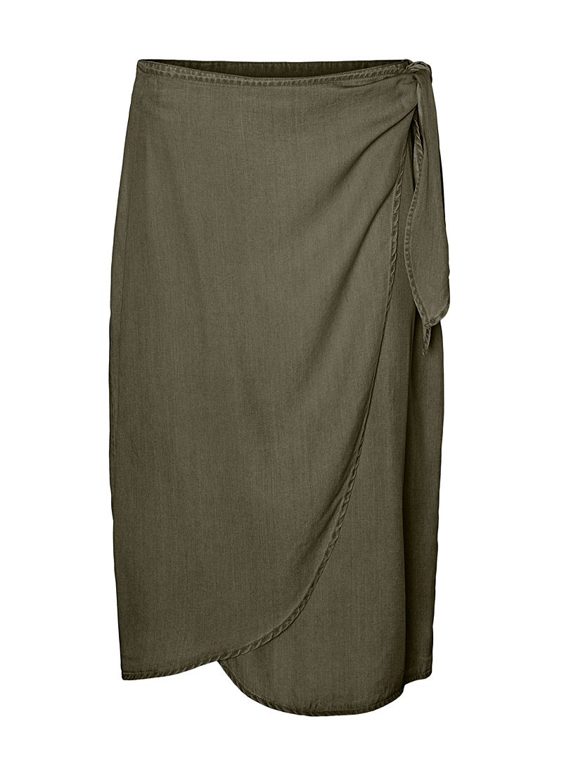 Vero Moda Khaki TENCEL* Lyocell sarong skirt for women