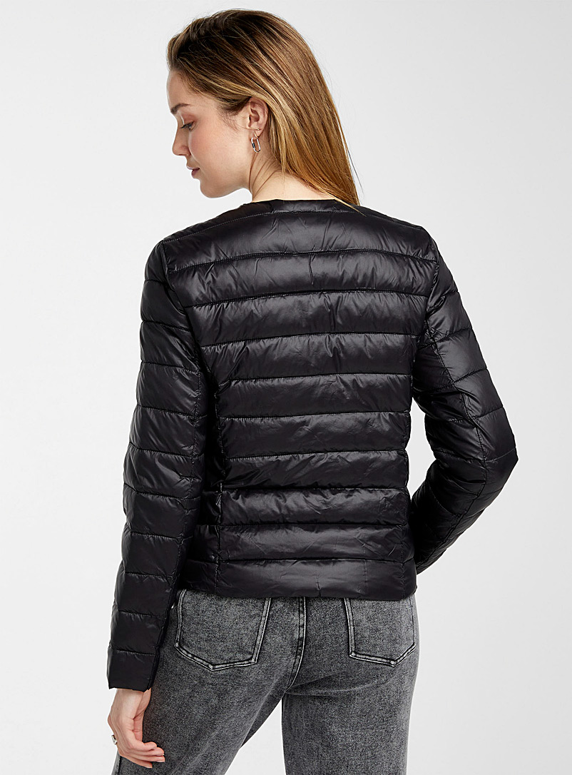 Vero Moda Black Quilted cropped jacket for women