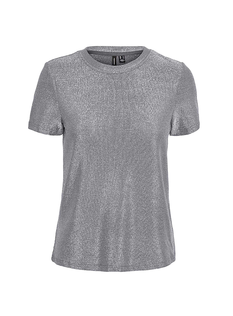 Vero Moda Silver Shimmery tee for women