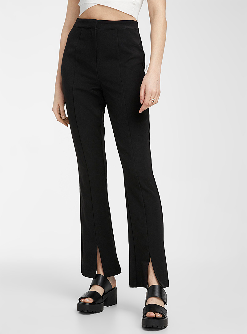 Vero Moda Black Slit flared pant for women