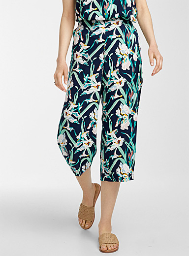 Eco-friendly viscose floral culottes