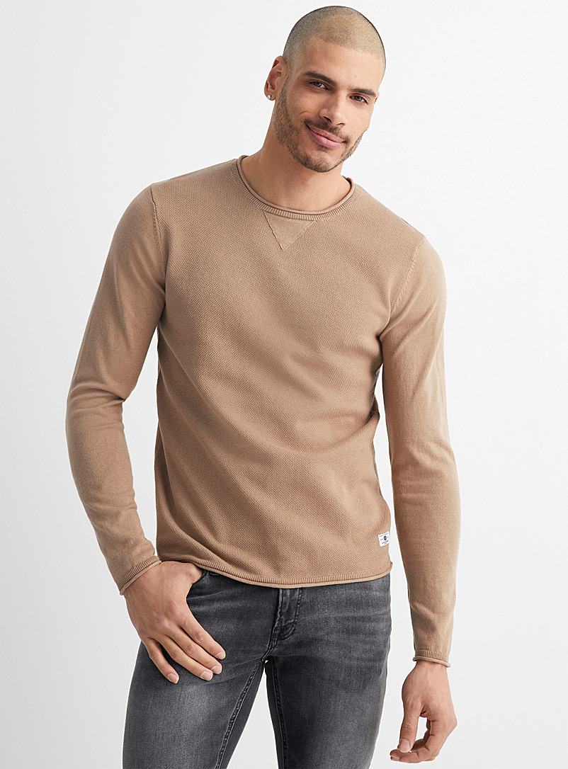 Faded textured sweater