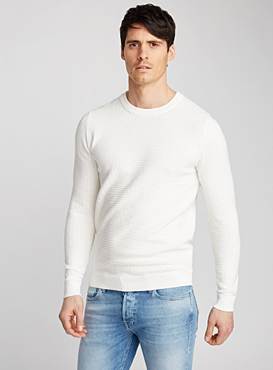 Geo textured sweater