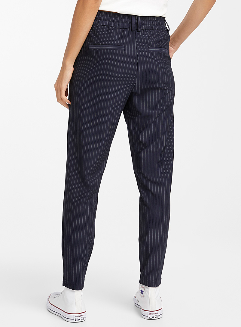 Only Patterned Blue Mini stripe pant for women
