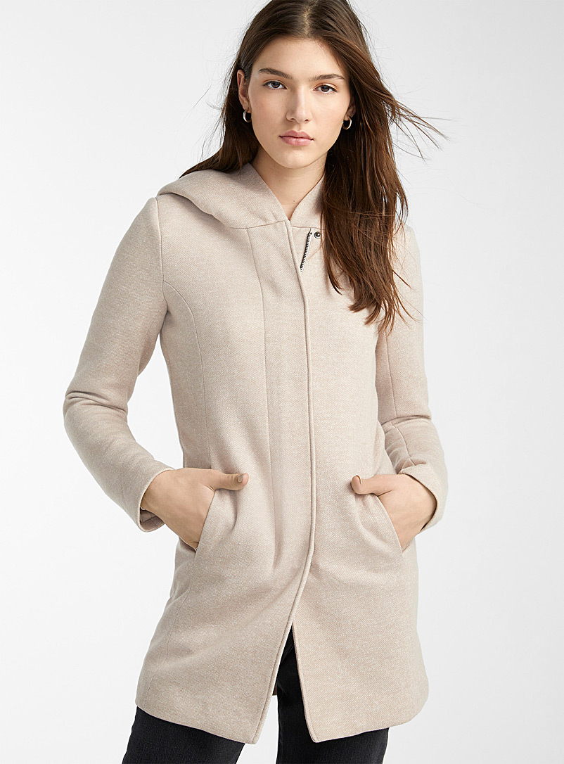 Sedona heathered fitted coat