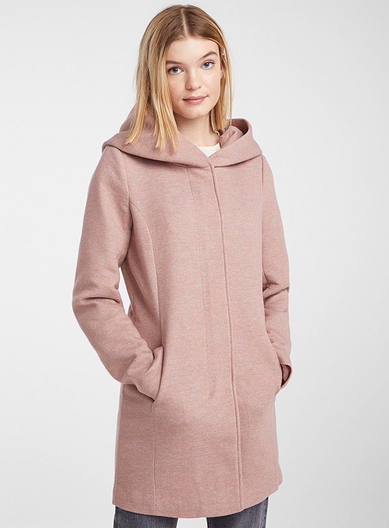 Only Dark Orange Sedona heathered fitted coat for women
