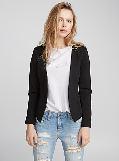 Ribbed-stripe jacket