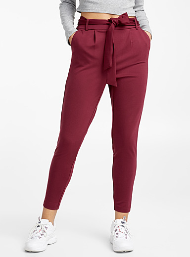 Belted pleated pant