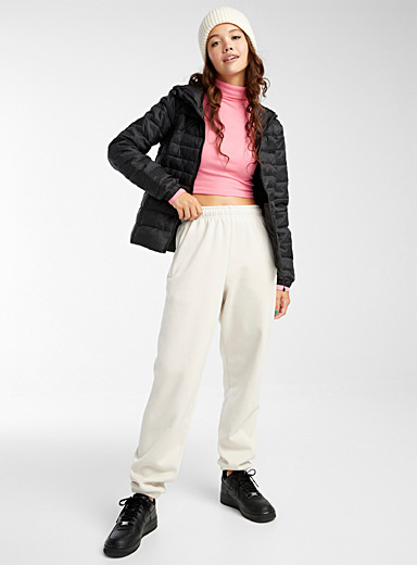 Packable cropped puffer jacket