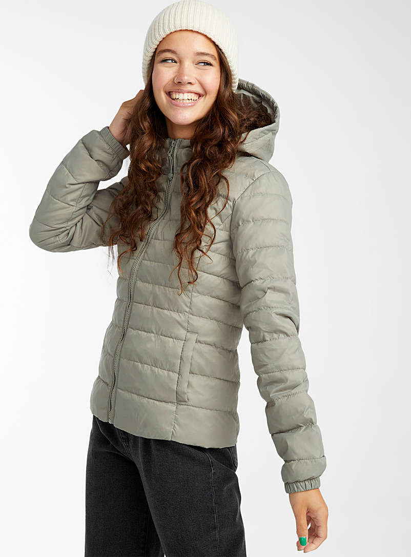Only Black Packable cropped puffer jacket for women