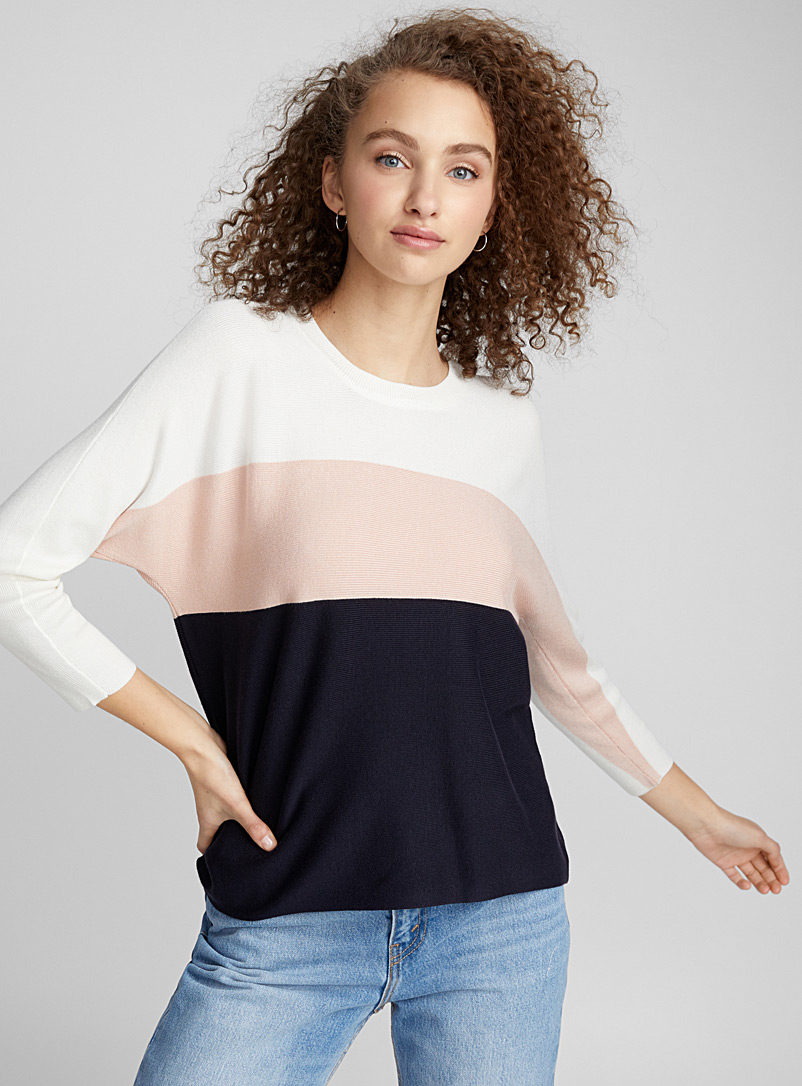 Athletic-stripe sweater - Sweaters - Ivory White