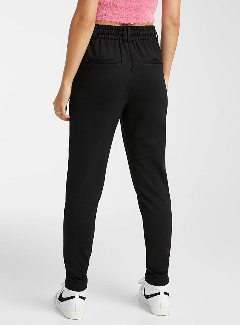 Only Assorted Solid viscose pant for women