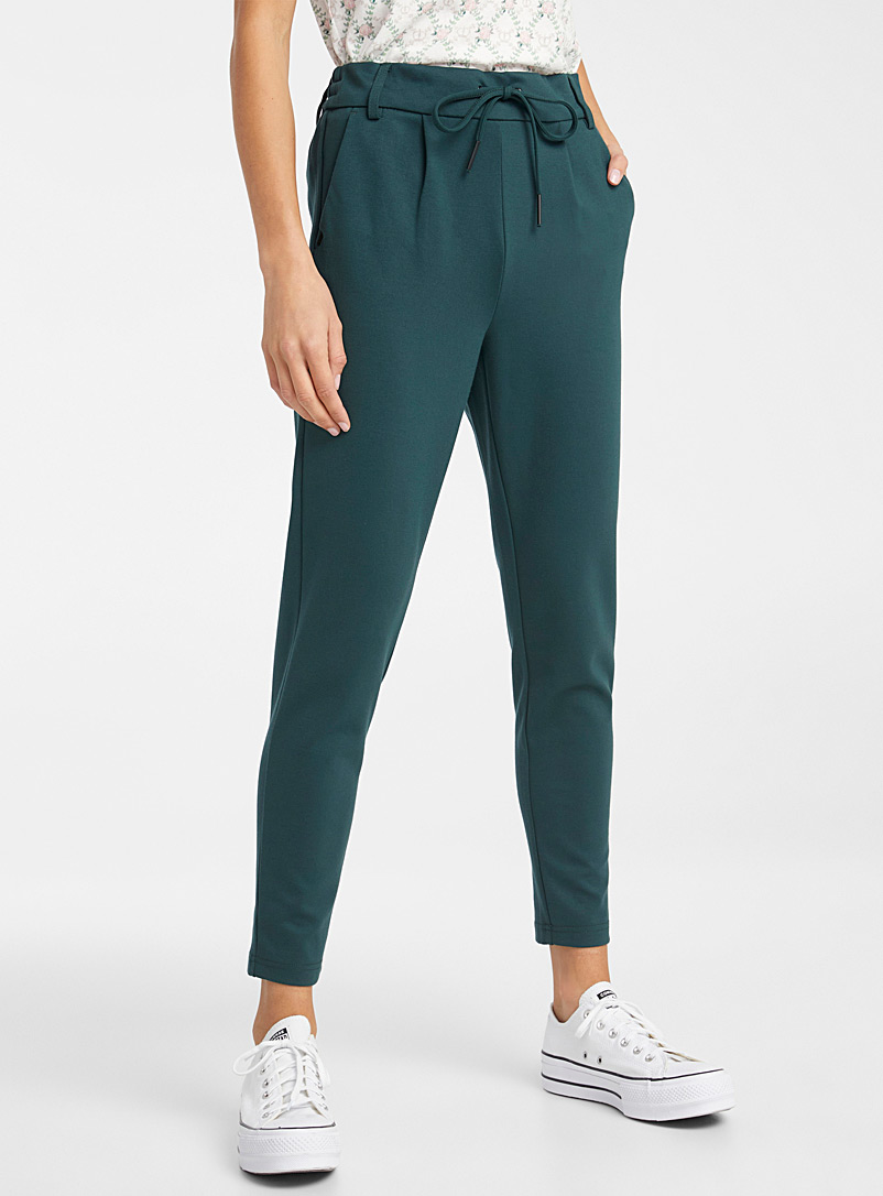 Solid viscose pant