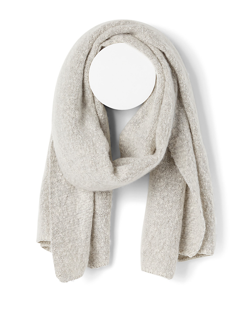 Only Ivory White Bouclé scarf for women