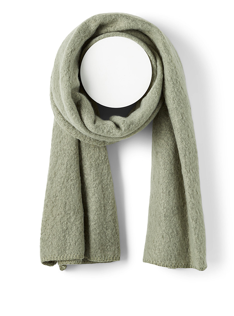 Only Lime Green Bouclé scarf for women