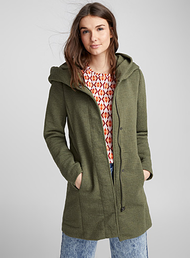 Long mid-season coat