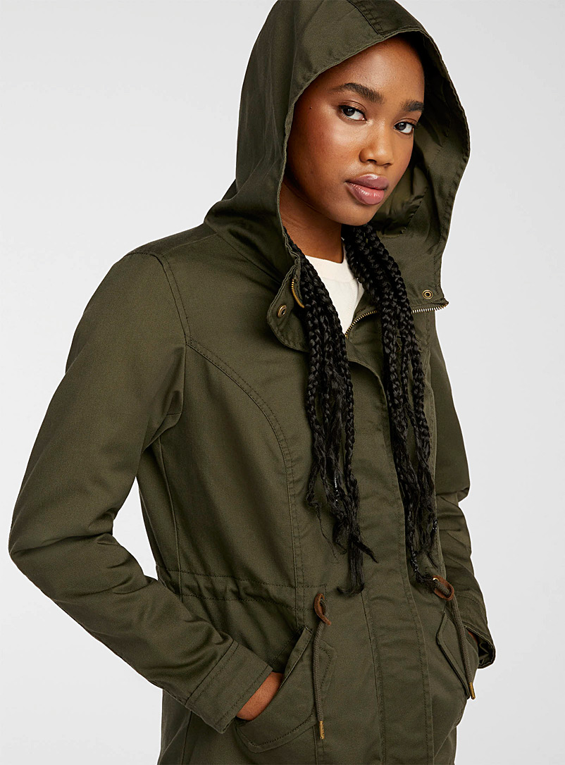 Only Dusky Pink Pure cotton utility parka for women