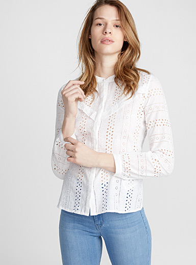 Broderie anglaise Western shirt
