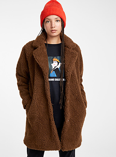 Long sherpa jacket