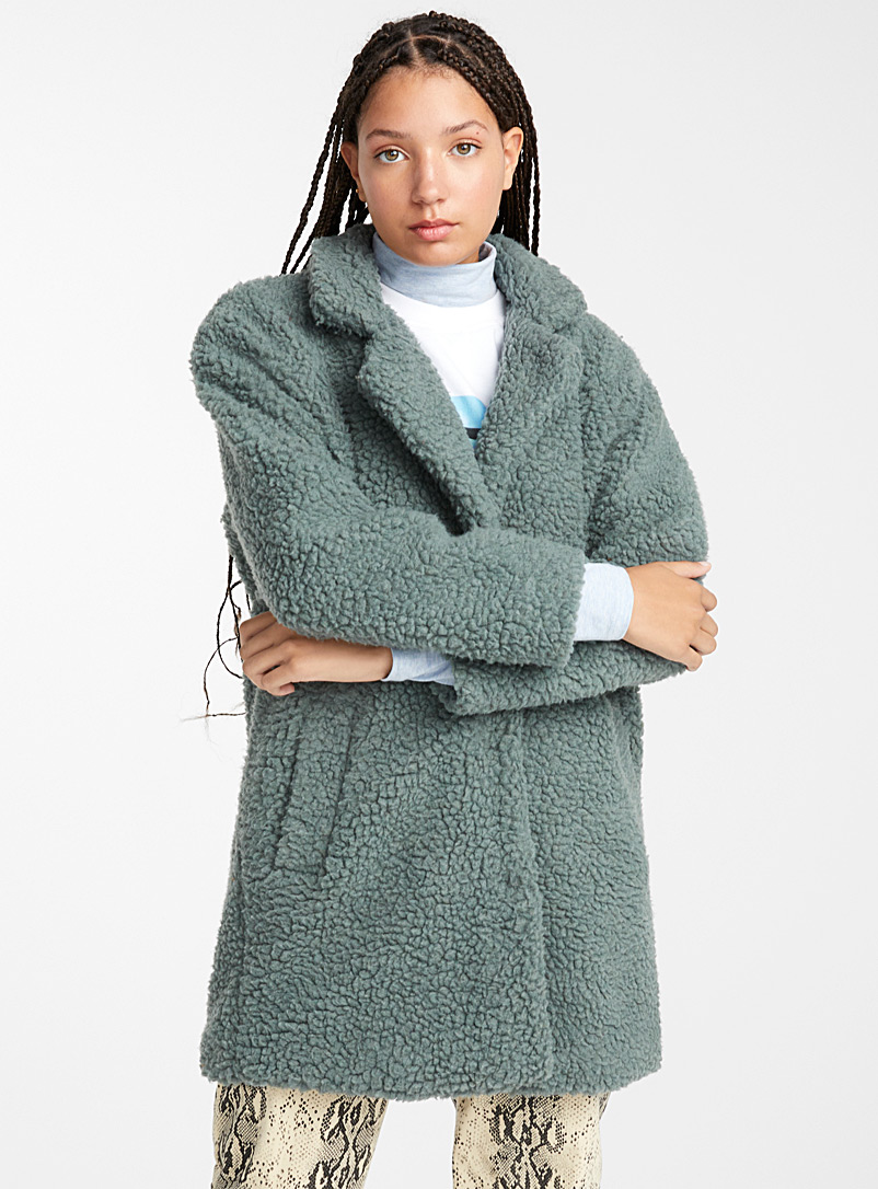 Long sherpa jacket - Jackets and Vests - Assorted