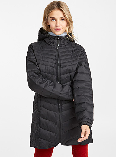 Packable ¾ puffer jacket