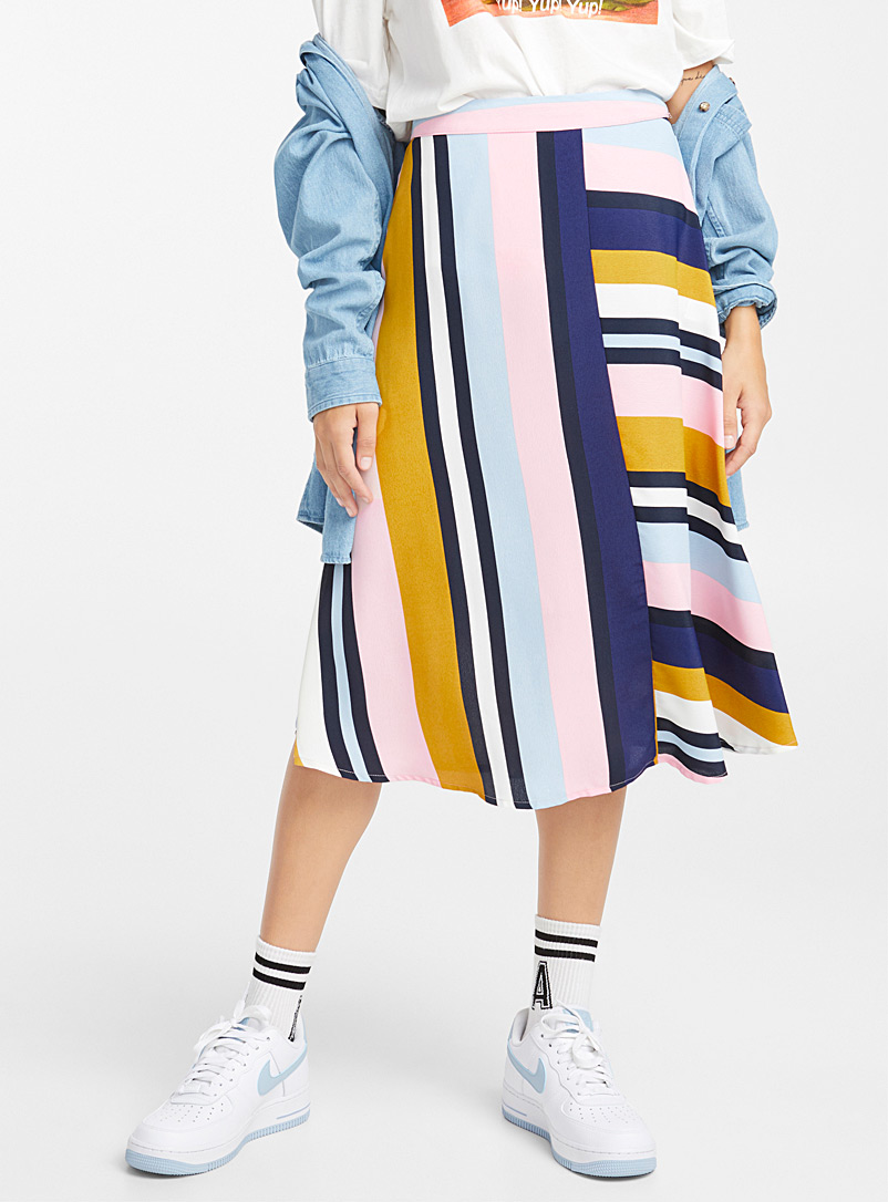 Eclectic stripe skirt - Midi - Assorted