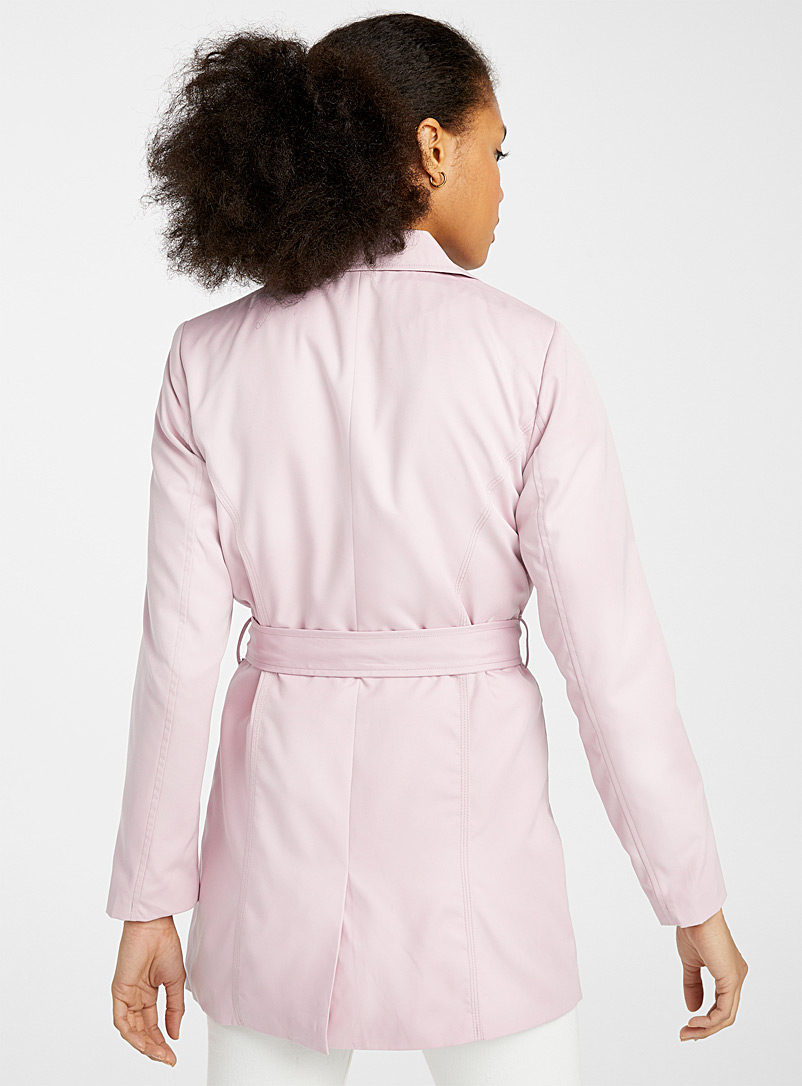 Only: Le trench double boutonnage Valerie Rose pour femme