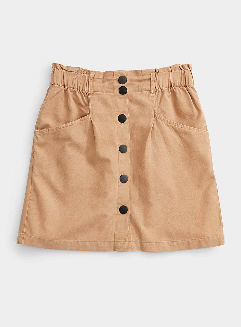 Only Brown Black button skirt for women