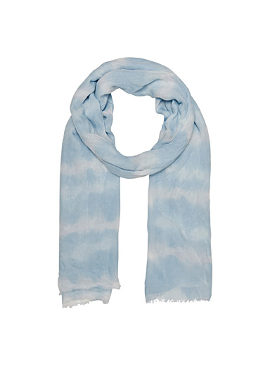 Only Baby Blue Two-tone tie-dye scarf for women