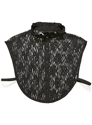 Only Black Lace shirt collar for women
