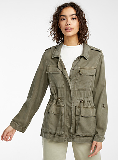 Only Khaki TENCEL* lyocell utility jacket for women