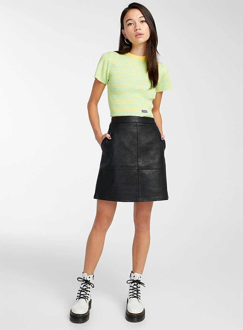 Only Black Faux-leather miniskirt for women
