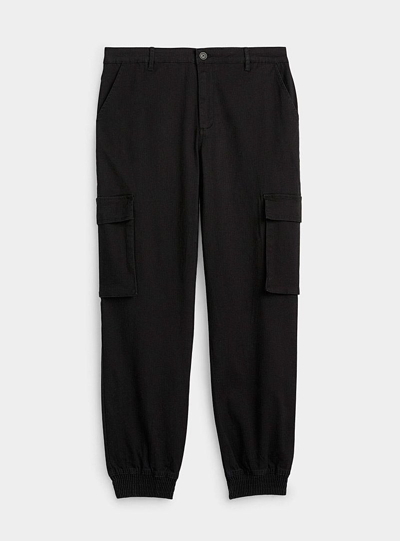 Only Black Cargo chino joggers for women