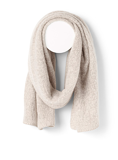 Only Ivory White Divinely soft scarf for women