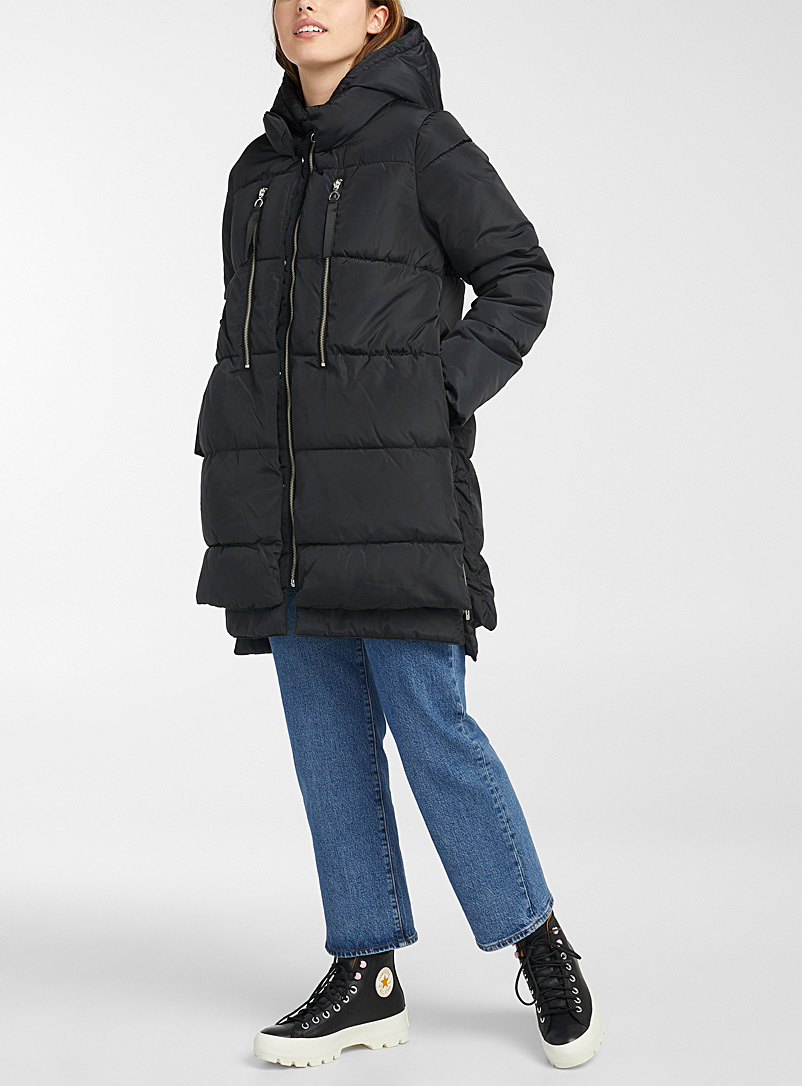 Nora loose quilted parka
