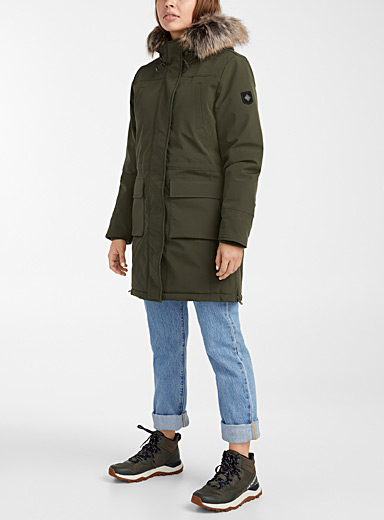 Only Mossy Green Sally nylon utility parka for women